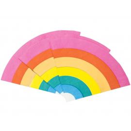Serviettes papier arc en ciel