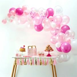 Arche ballons rose