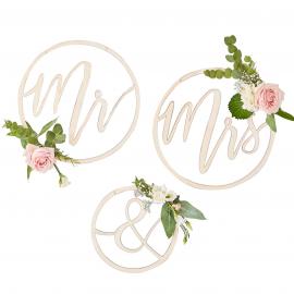Cercles bois Mr & Mrs