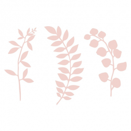 Feuilles papier rose poudré