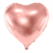 Ballon mylar coeur or rose