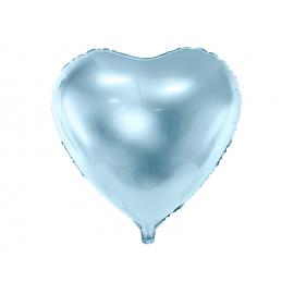 Ballon coeur bleu mylar