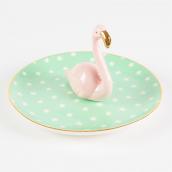 Coupelle céramique flamant rose
