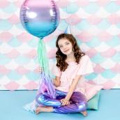 Ballon mylar iridescent bleu, violet