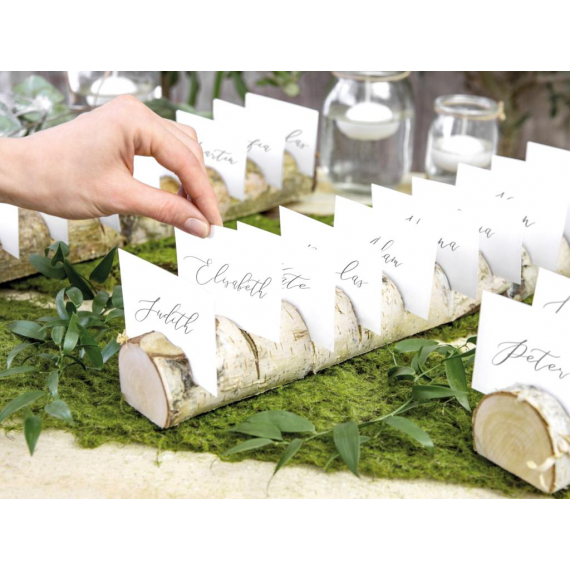Rondin bois plan de table