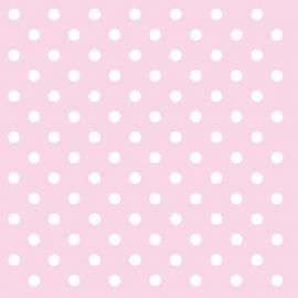 Serviettes papier rose pois blancs