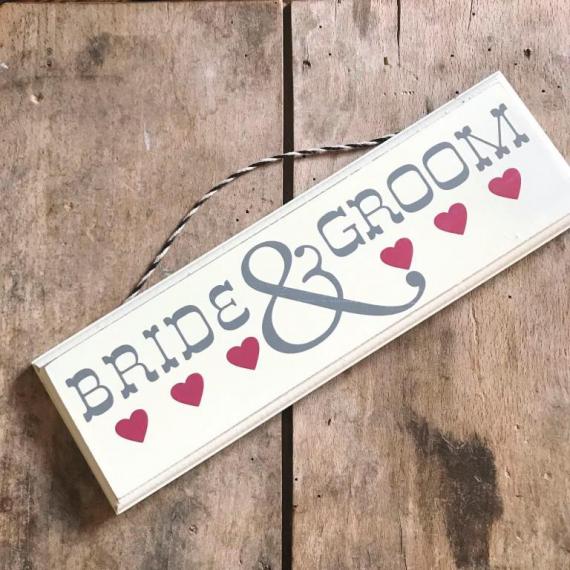 Pancarte rétro Bride & groom