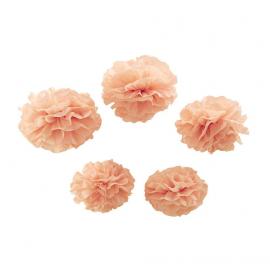 Assortiment pompoms rose so chic