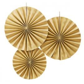 Rosaces papier gold so chic