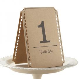 Numéro de table vintage - Lot de 12