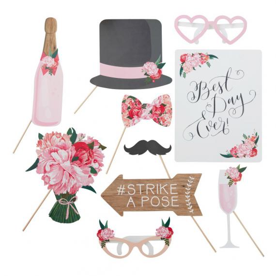 Photobooth mariage floral bohème