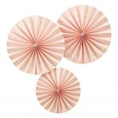 Rosaces papier rose so chic