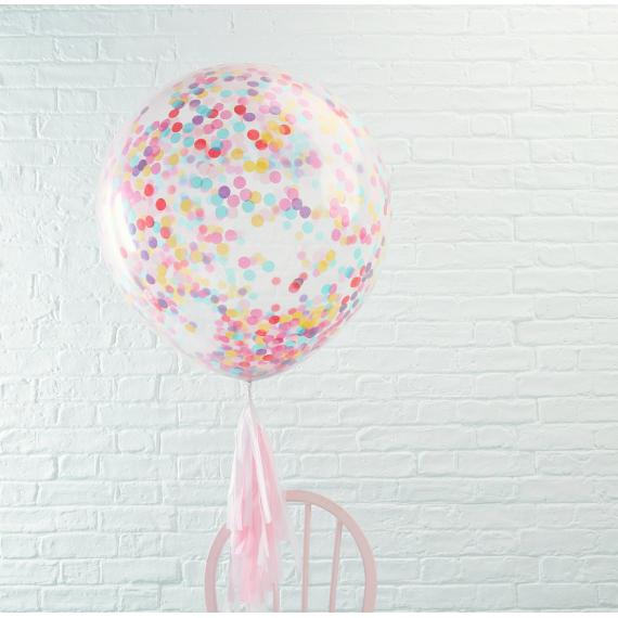 Ballons XXL confettis multicolores