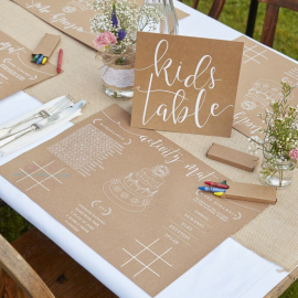 Set de table pour enfants en kraft