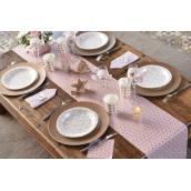 Chemin de table rose poudrée carreau de ciment