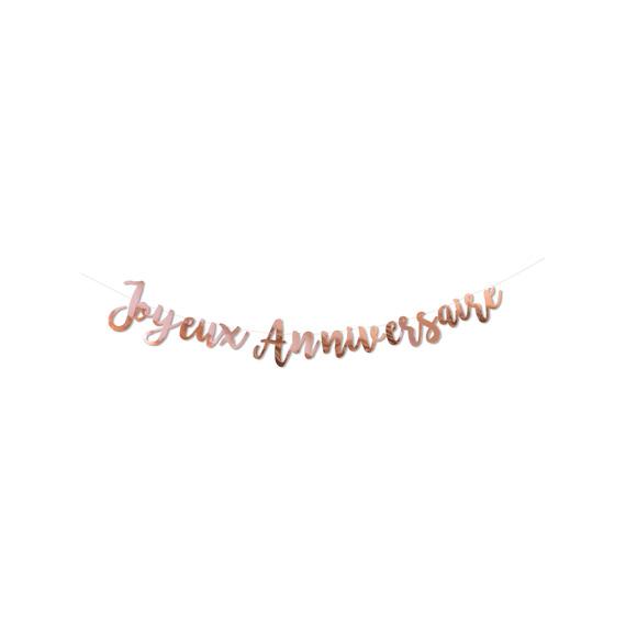Guirlande joyeux anniversaire rose gold
