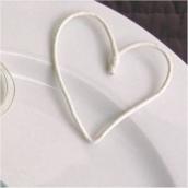 Cordelette papier laitonné blanc