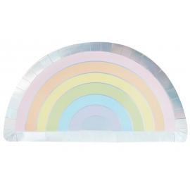 assiettes arc-en-ciel pastel rainbow