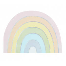 Serviette arc-en-ciel pastel